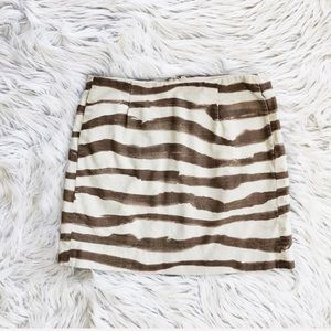 J. Crew zebra print mini skirt